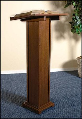 Square Base Lectern, Hardwood Maple with Walnut finish  -