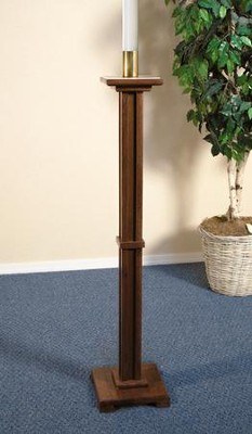 Paschal Candle Holder, Hardwood Maple with Walnut finish  -