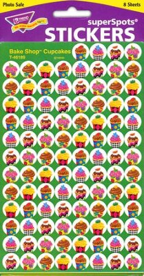 Bake Shop Super Cupcakes SuperSpot Stickers  -