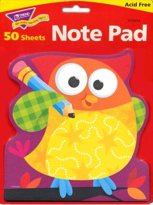 Owl-Stars! Note Pad Shaped  -