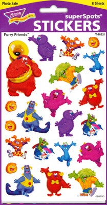 Furry Friends Super Shape Large Stickers  -