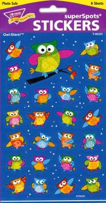 Owl-Stars! Super Shape Large Stickers  -