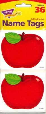 Shiny Red Apple Name Tags  -