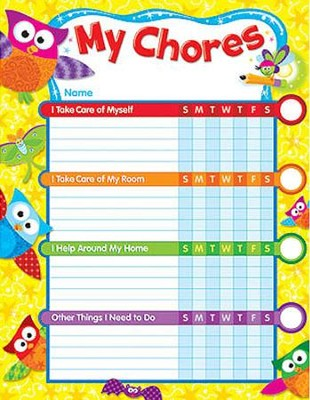 Owl-Stars! Chore Chart Incentive Pads  -