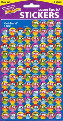 Owl-Stars! SuperSpot Stickers  -