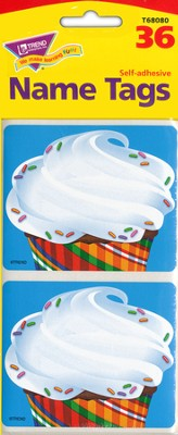 Bake Shop Cupcakes Name Tags  -