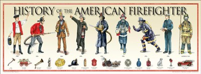History of the American Fire Fighter Poster  -
