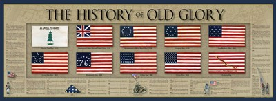 History of Old Glory Poster  -