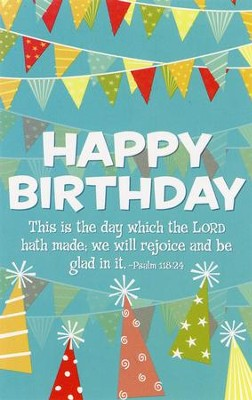 Happy Birthday (Psalms 118:24) Postcards, 25  -