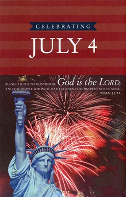 One Nation Under God, July 4th (Psalms 33:12) Bulletins, 100  -