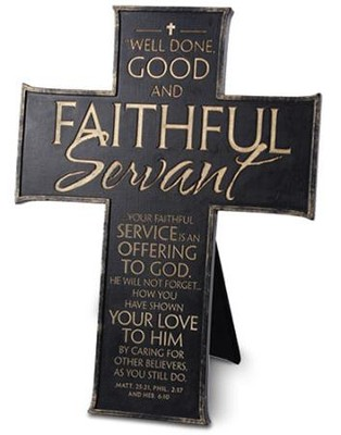 Faithful Servant Cross, Black  -