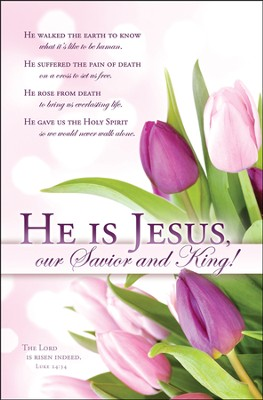 He Is Jesus (Luke 24:34) Easter Bulletins, 100  -