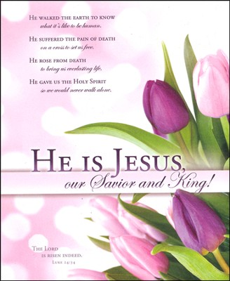 He Is Jesus (Luke 24:34) Easter Large Bulletins, 100  -