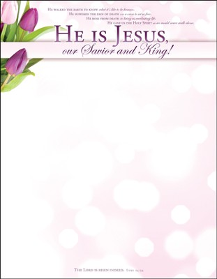He Is Jesus (Luke 24:34) Easter Letterhead, 100  -