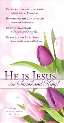 He Is Jesus (Luke 24:34) Easter Offering Envelopes, 100  -