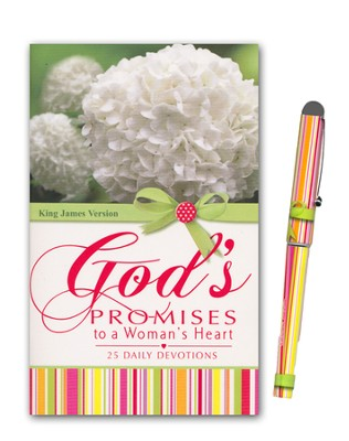 God's Promises to a Woman's Heart Book and Pen Gift Set  -