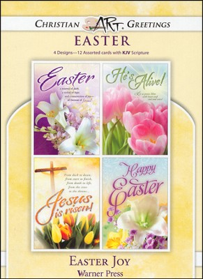 Easter Joy, Box of 12 Assorted Easter Cards  -