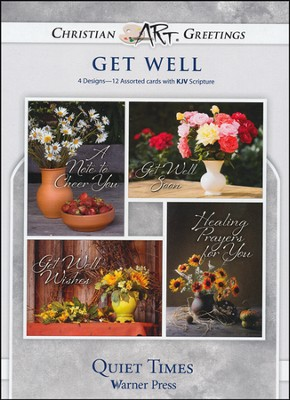 Quiet Times, Box of 12 Assorted Get Well Cards  -