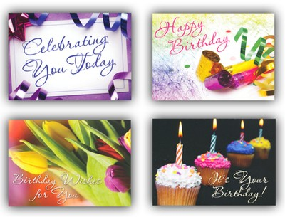 Celebrating You, Box of 12 Assorted Birthday Cards  -