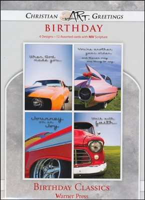 Birthday Classics, Box of 12 Assorted Birthday Cards  -
