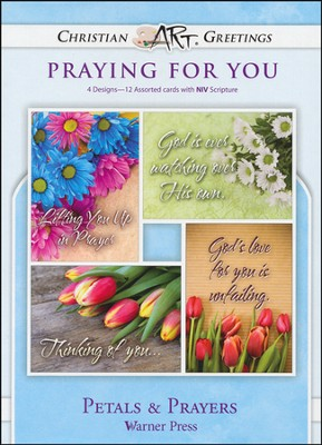 Petals & Prayers, Box of 12 Assorted Thinking of You Cards  -
