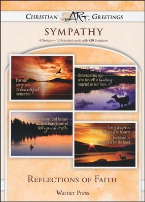 Reflections of Faith, Box of 12 Assorted Sympathy Cards  -
