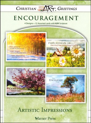 Artistic Impressions, Box of 12 Assorted Encouragement Cards  -