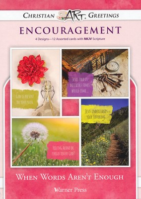 When Words...Encouragement Cards, Box of 12   -