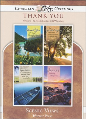 Scenic Views, Box of 12 Assorted Thank You Cards  -