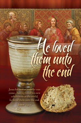 Maundy Thursday (John 13:1) Bulletins, 100  -
