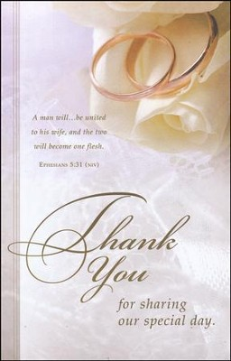 Thank You for Sharing (Ephesians 5:31, NIV) Bulletins, 100  -