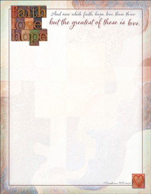 Faith, Love Hope Letterhead (1 Corinthians 13:13) 100  -