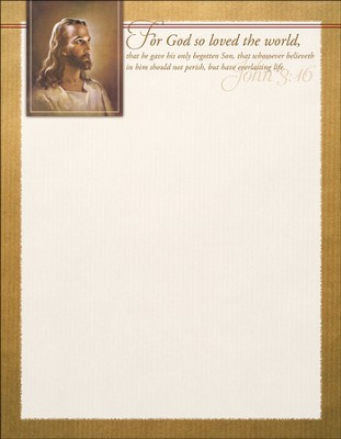 God So Loved Letterhead (John 3:16) 100  -