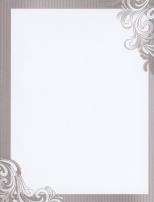 Scroll Design Wedding Letterhead, 100  -