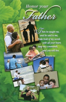 Honor Your Father (Proverbs 4:4, NIV) Bulletins, 100  -