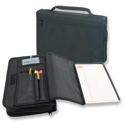 Wordkeeper &#174 Canvas Organizer Bible Cover, Black, Extra Large  -