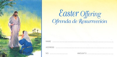 Risen Christ with Mary, Spanish/English Offering Envelopes, 100  -