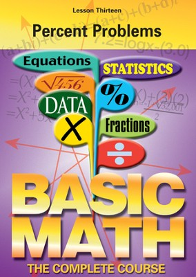 Basic Math Series: Percent Problems DVD  -