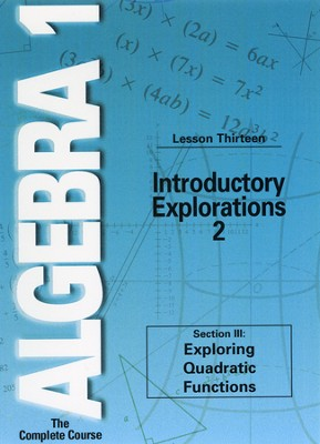 Algebra 1 - The Complete Course: Introductory Explorations 2 DVD  -