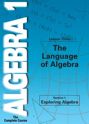 Algebra 1 - The Complete Course: The Language of Algebra DVD  -