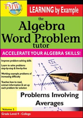 Algebra Word Problem: Problems Involving Averages DVD  -