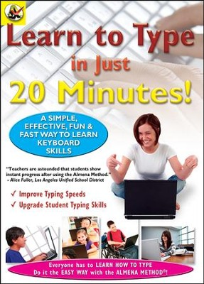 Learn How To Type In Just 20 Minutes DVD  -