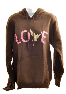 Love Dove, Hooded Sweatshirt, Large (42-44)   -
