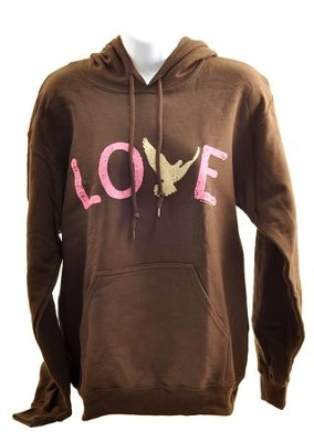 Love Dove, Hooded Sweatshirt, Medium (38-40)  -