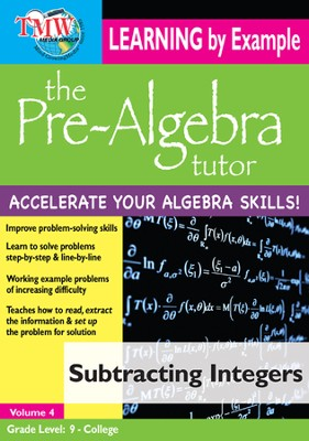 Subtracting Integers DVD  -