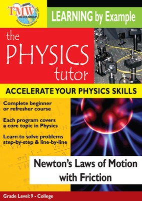 Physics Tutor: Newton's Laws Of Motion With Friction DVD  -