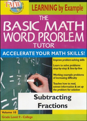 Basic Math Word Problem Tutor: Subtracting Fractions DVD  -