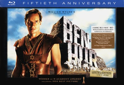 Ben-Hur: 50th Anniversary Collector's Edition, 3-Disc Blu-ray Set     -