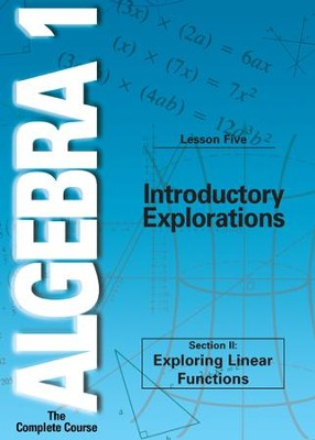 Algebra 1 - The Complete Course: Introductory Explorations DVD  -