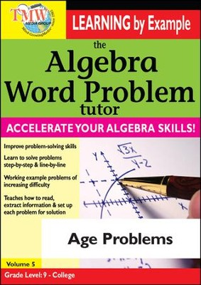 Algebra Word Problem: Age Problems DVD  -